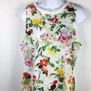 One Clothing Size M Sleeveless Hi-Lo Shirt Top